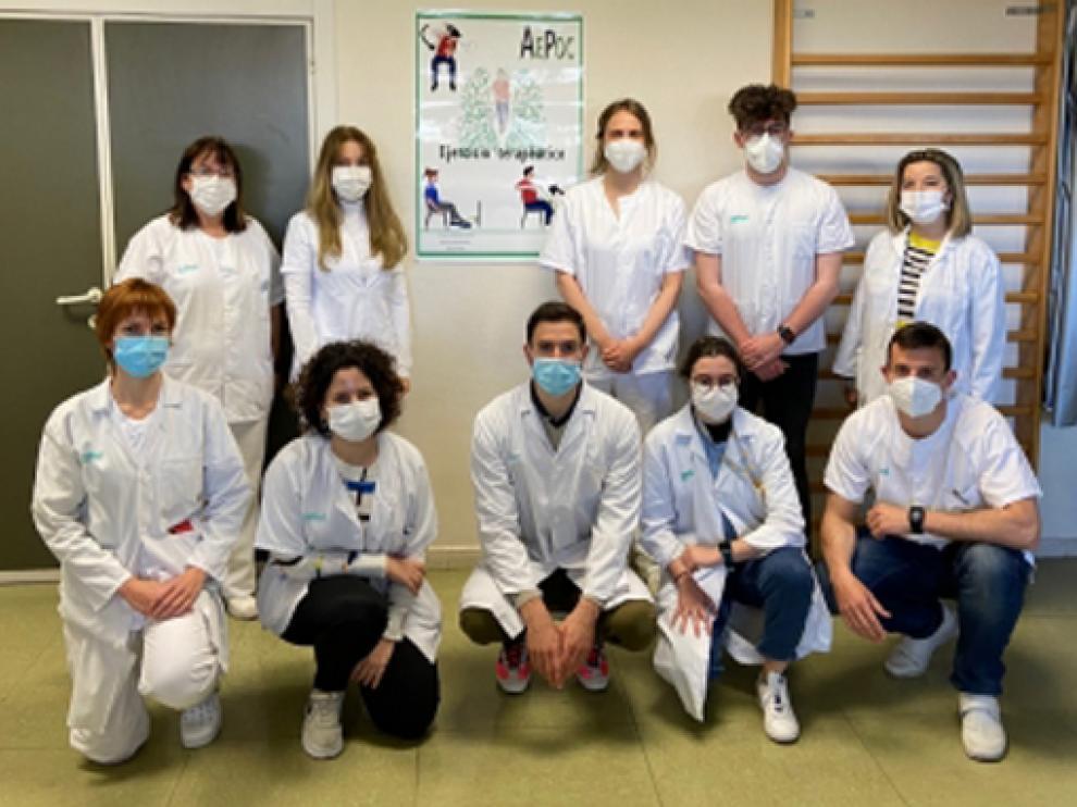 En la imagen, el grupo AEPOC del centro de salud Las Fuentes Norte.