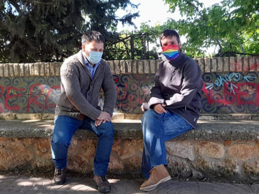 Óscar Sipán y Guillermo Boix, de Con Huesca Podemos Equo