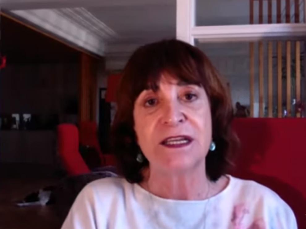 """Rosa Montero, en el encuentro """"online""""."""