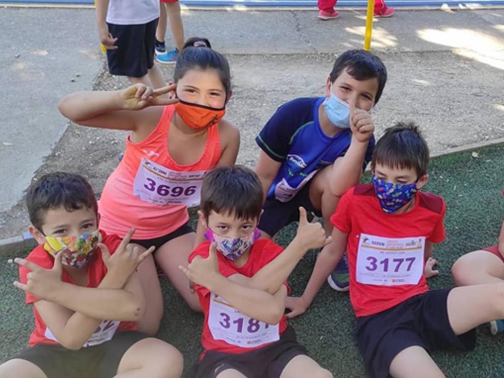 Atletas del CA Fraga Bajo Cinca participantes en el Provincial.