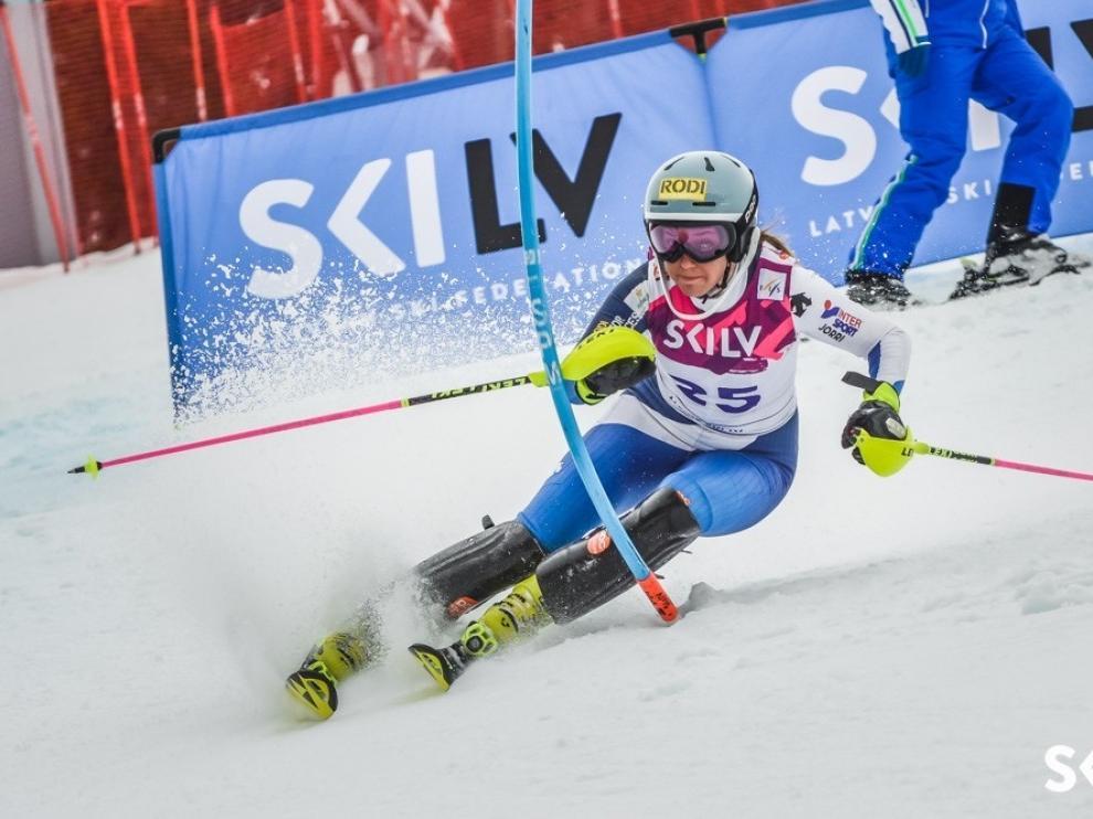 La joven esquiadora de 20 años ha protagonizado una temporada espectacular
