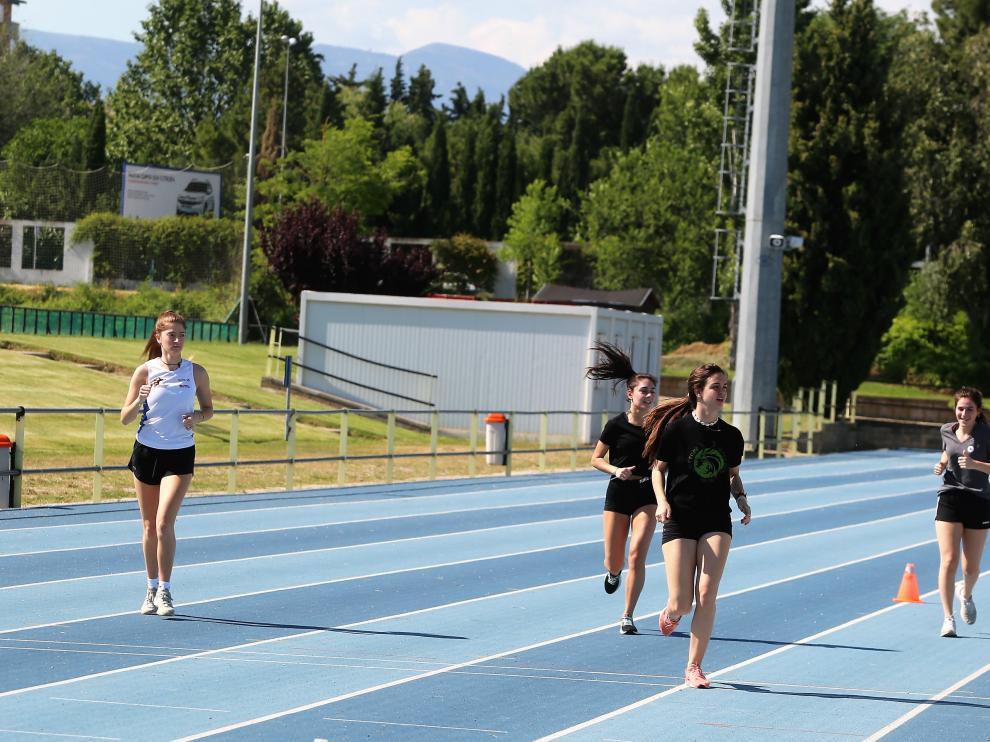 Pistas e atletismo de la Ciudad Deportiva Municipal de Huesca