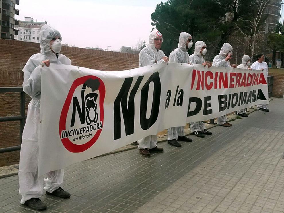 Acción en contra de la incineradora de Biomasa en junio de 2020.
