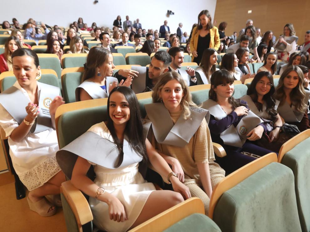 Acto de graduación de enfermería en la Escuela Politécnica de Huesca en 2019