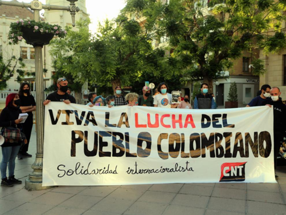 Concentración en solidaridad con Colombia