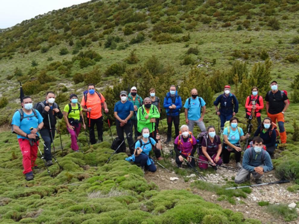 El grupo ribagorzano, el pasado fin de semana en las Crestas de Balced.