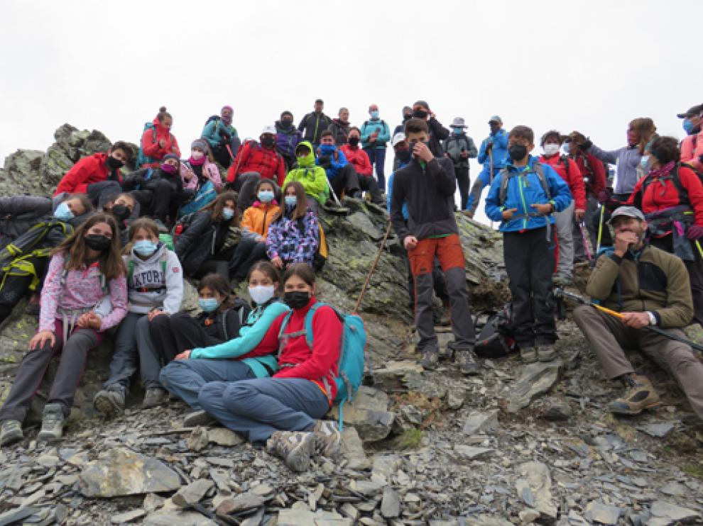 En la cima del pico Bernatuara.