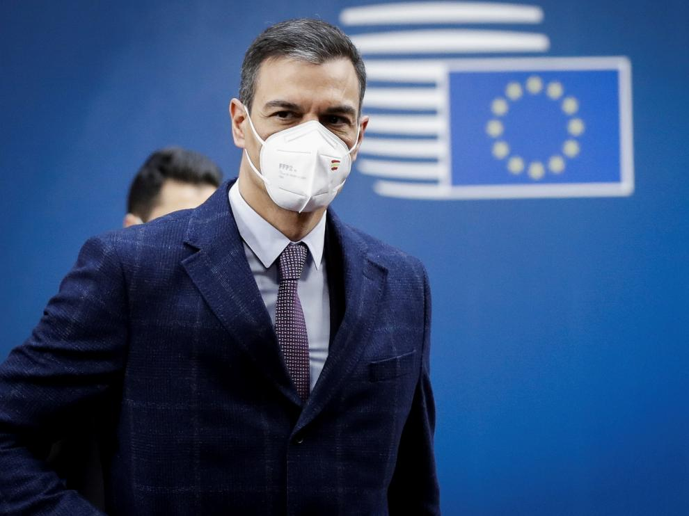 FILE PHOTO: Spanish Prime Minister Pedro Sanchez arrives at the second day of a special EU summit in Brussels, Belgium May 25, 2021. Olivier Hoslet/Pool via REUTERS/File Photo[[[REUTERS VOCENTO]]] SPAIN-ECONOMY/CHINA