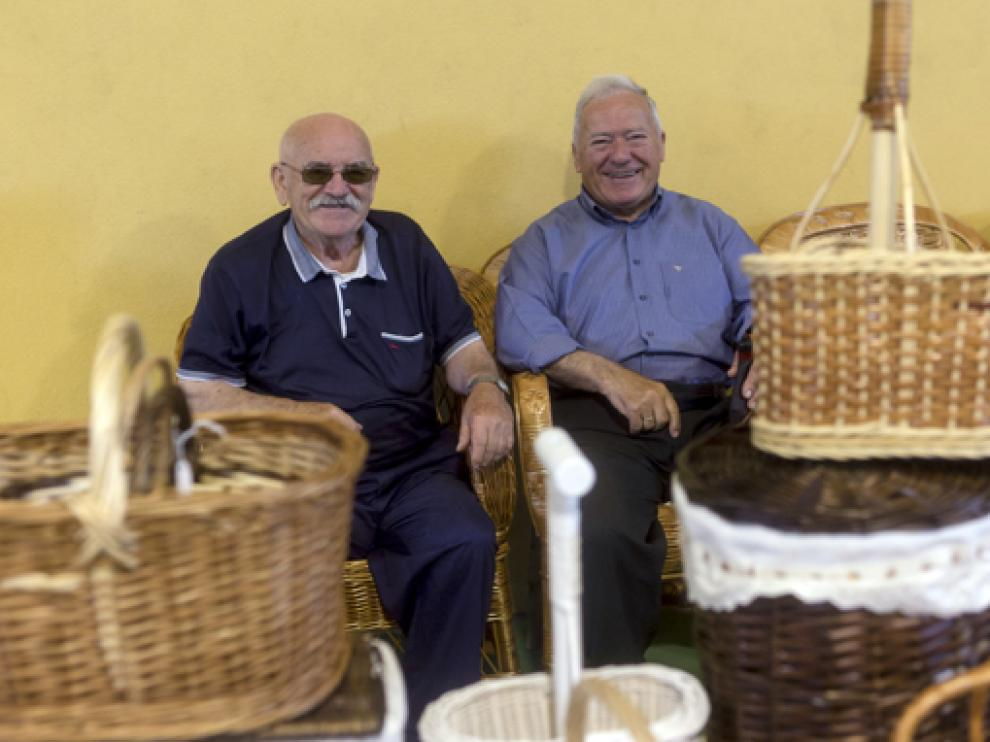 Ramón Agraz y Joaquín Fumanal participando en una edición anterior de la Fira de Sant Medardo
