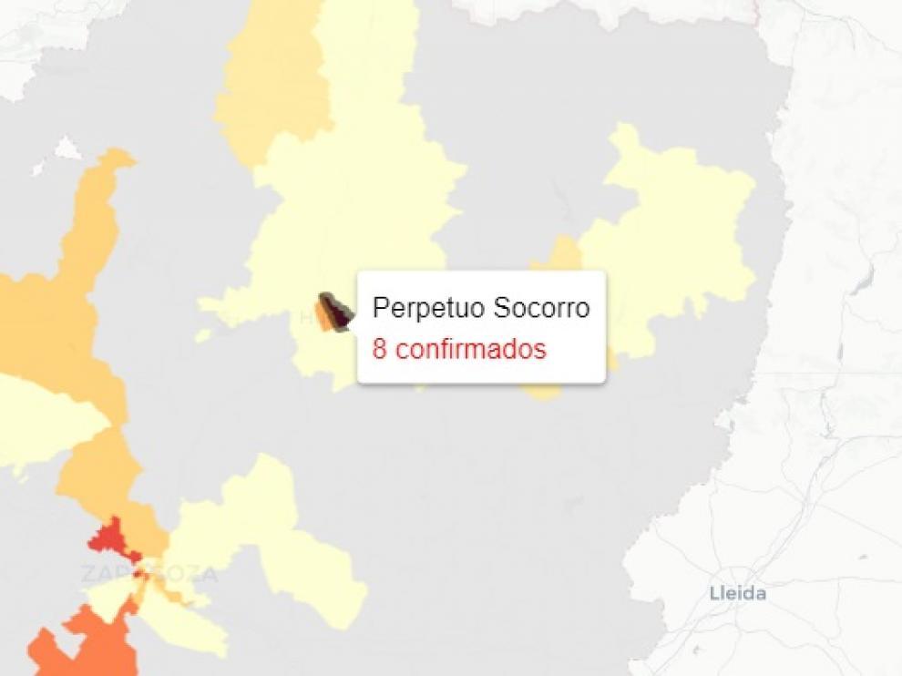 El centro de salud del Perpetuo Socorro muestra este domingo el número de casos más alto de Aragón.