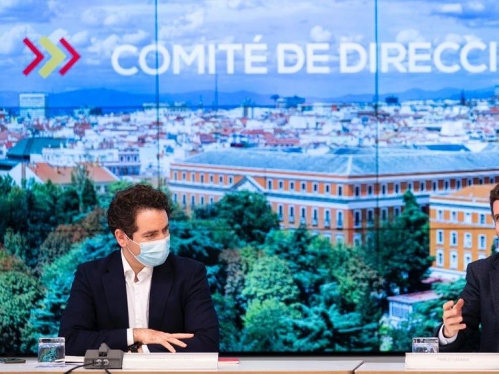 Pablo Casado y Teodoro García Egea, presidente y secretario general del PP