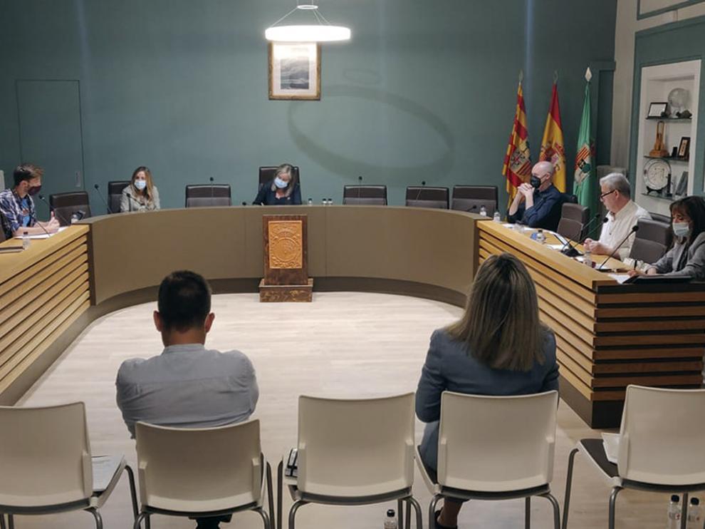 Pleno celebrado el pasado jueves por la corporación municipal fragatina.