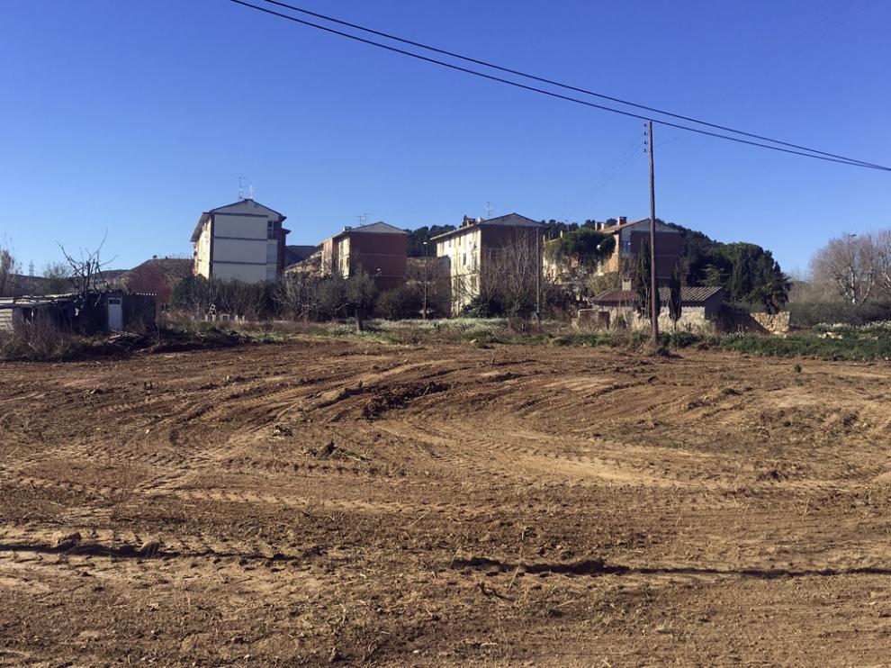 Terrenos de San Simón que cede el Ayuntamiento de Fraga para la nueva residencia comarcal de mayores