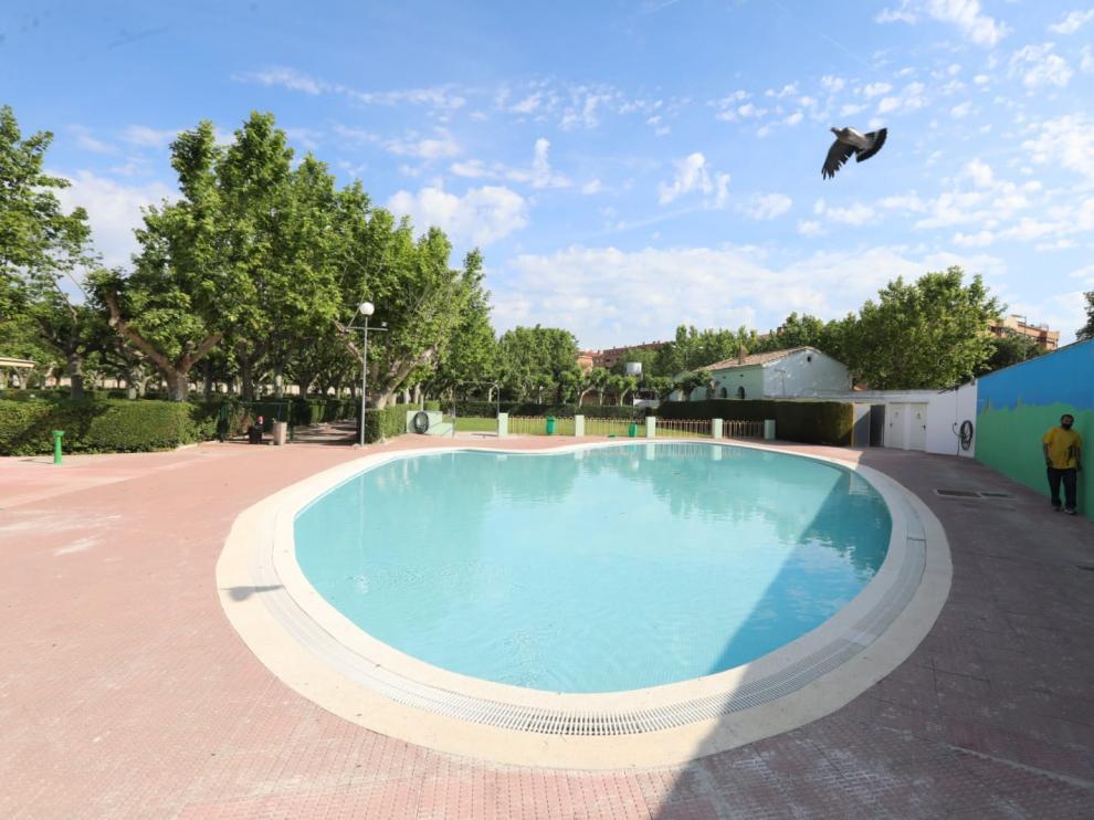 Instalación de la piscina San Jorge