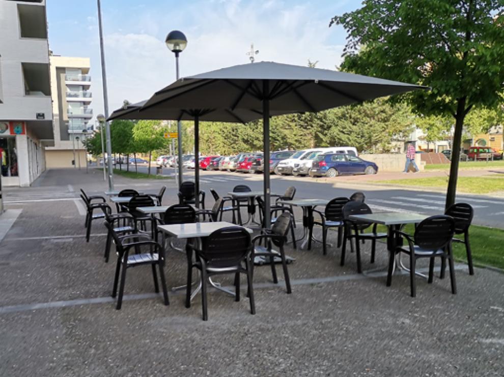 Imagen de una terraza de Fraga