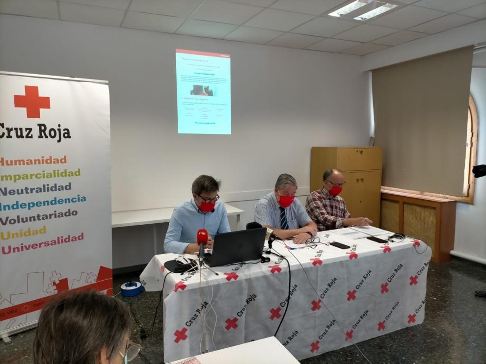 Los responsables de Cruz Roja Huesca han presentado la memoria del año 2020.