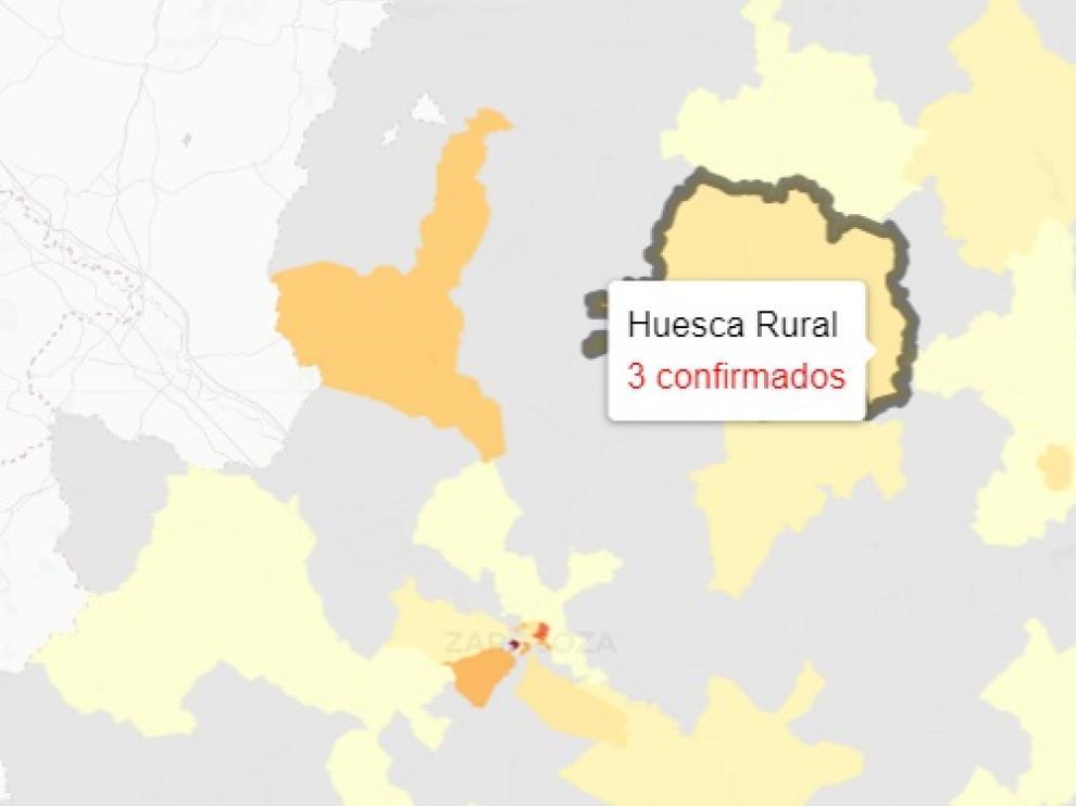 La provincia de Huesca ha sumado 22 positivos de covid y 37 altas