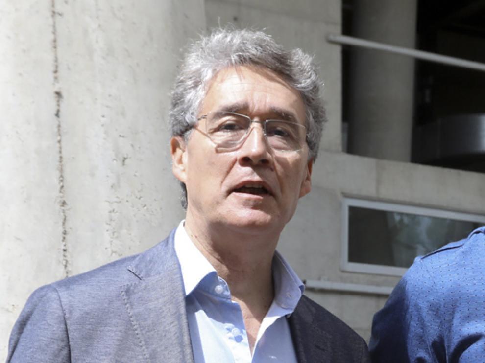 Pachi Giné, presidente del Balonmano Huesca.