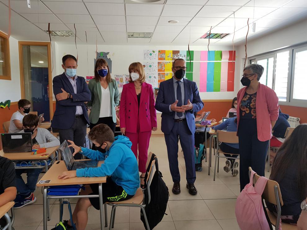 Visita al colegio Lucien Briet en Zaragoza