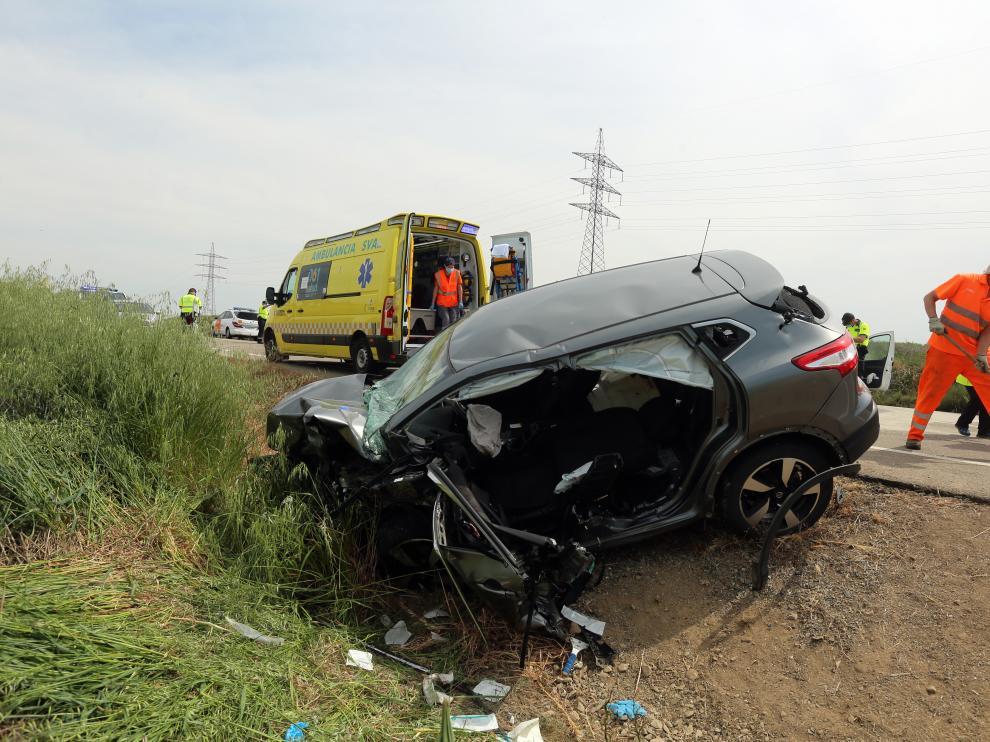 Estado del vehículo que ocupaban los dos heridos