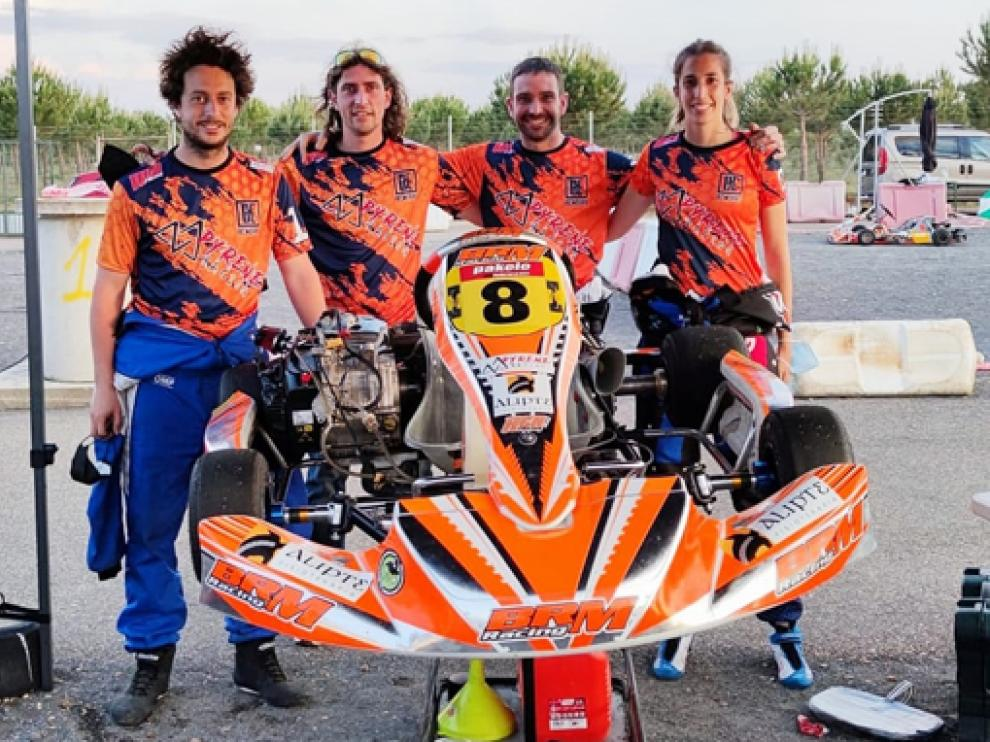 Imagen del equipo aragonés en tierras leonesas.