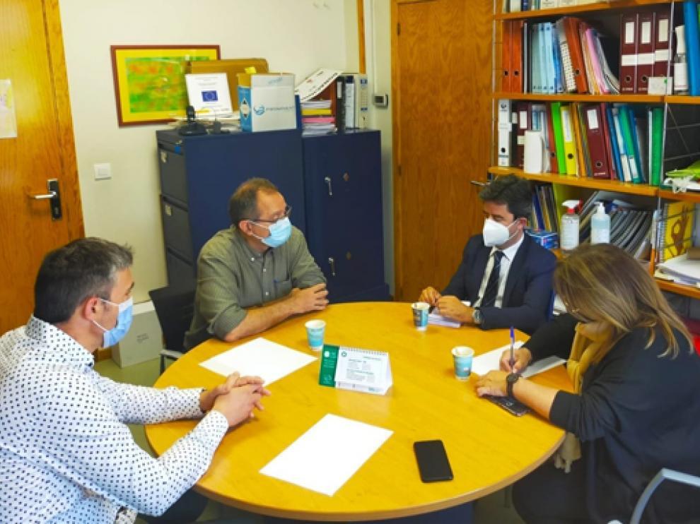 Visita de Luis Felipe a Aspace Huesca