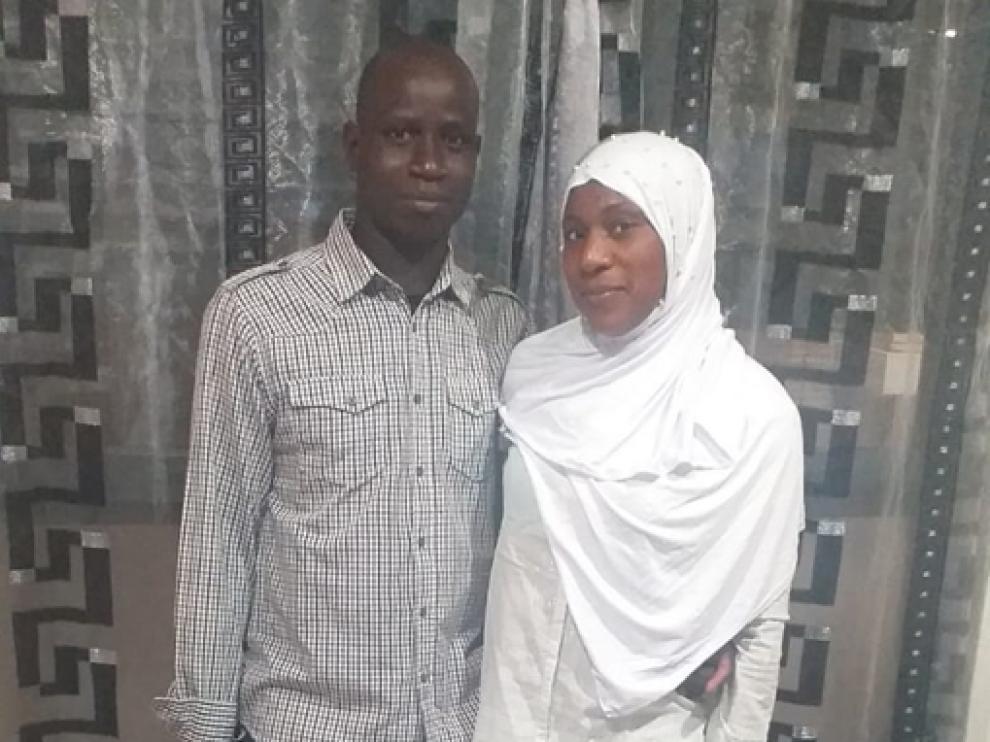 Tidiane Dembele y Mbalou Dansira, en Zaidín.
