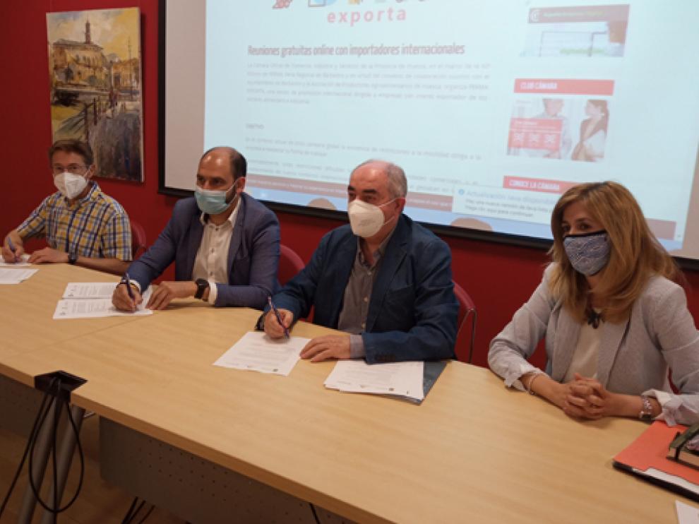 Boren, Torres, Rodríguez y Pallás, en su comparecencia en rueda de prensa.