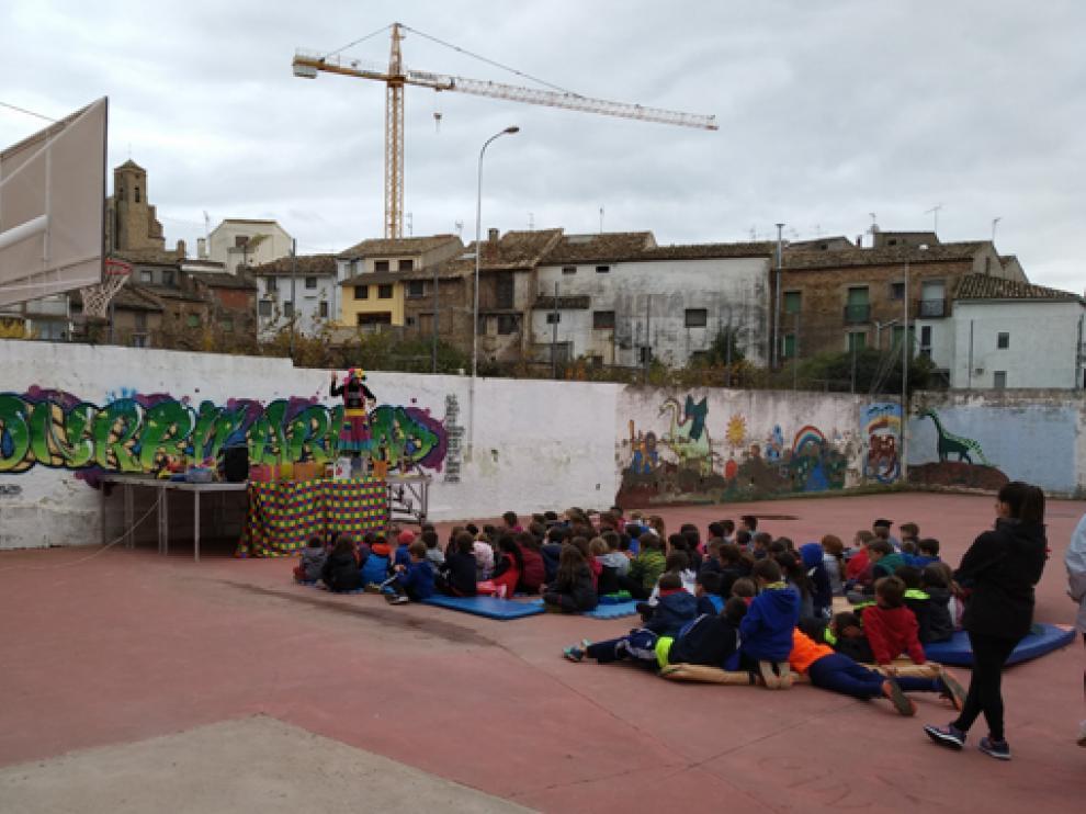 Patio de recreo del Centro Público Integrado de Benabarre.