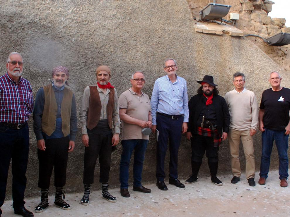 De izquierda a derecha, Castiella, Santolaria, Bellosta, Lasheras, Adell, Nistal, Gracía y Cásaus
