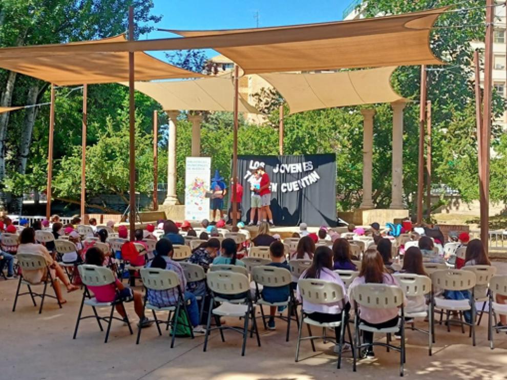 Imagen de la actividad en el Parque Miguel Servet de Huesca