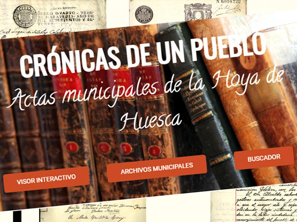 """Proyecto 'Crónicas de un pueblo: actas municipales de la Hoya de Huesca"""""""
