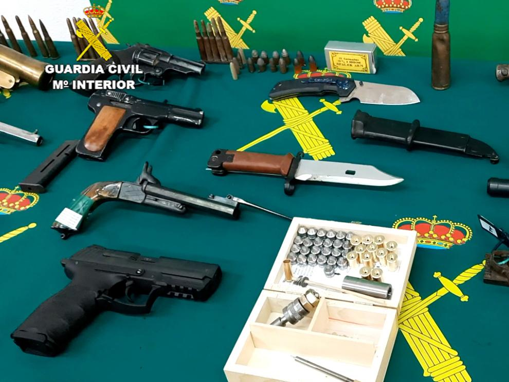 Armas intervenidas por la Guardia Civil de Teruel