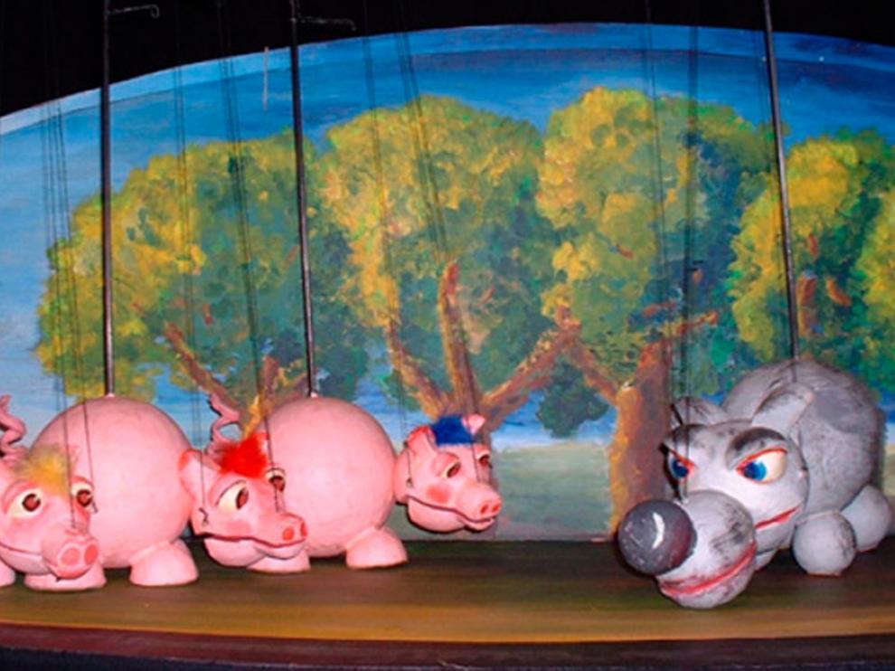 Imagen del espectáculo 'Los tres cerditos'.