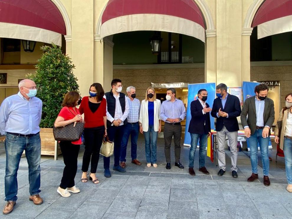 Luis maría Beamonte ha visitado Huesca este martes.