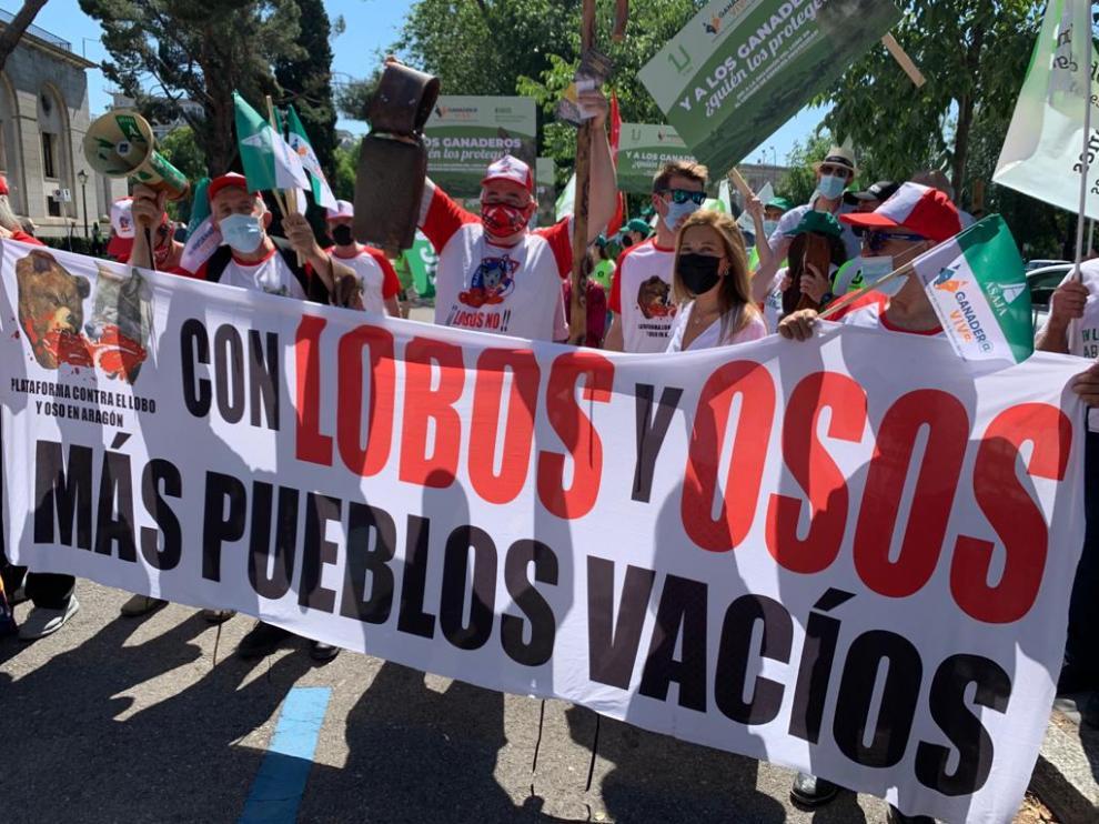 Participantes en la manifestación en Madrid este miércoles.