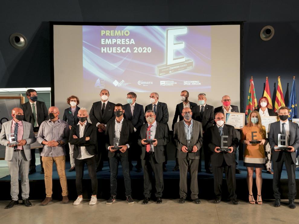 Entrega de los Premios Empresa Huesca del año pasado.