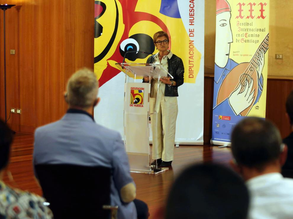 Maribel de Pablo, diputada de Cultura en la DPH, en la presentación del festival.