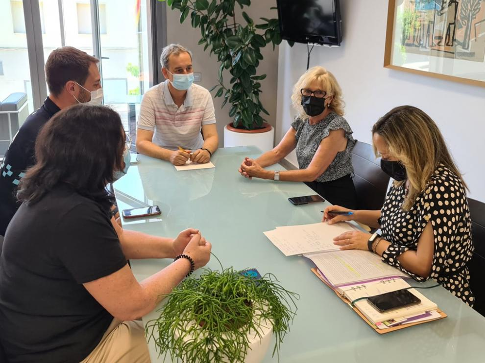 Reunión de la Subdelegación del Gobierno en Huesca y Ayuntamiento de Binéfar