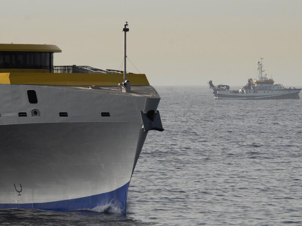 Barco Oceonográfico que busca a las dos niñas de Tenerite.