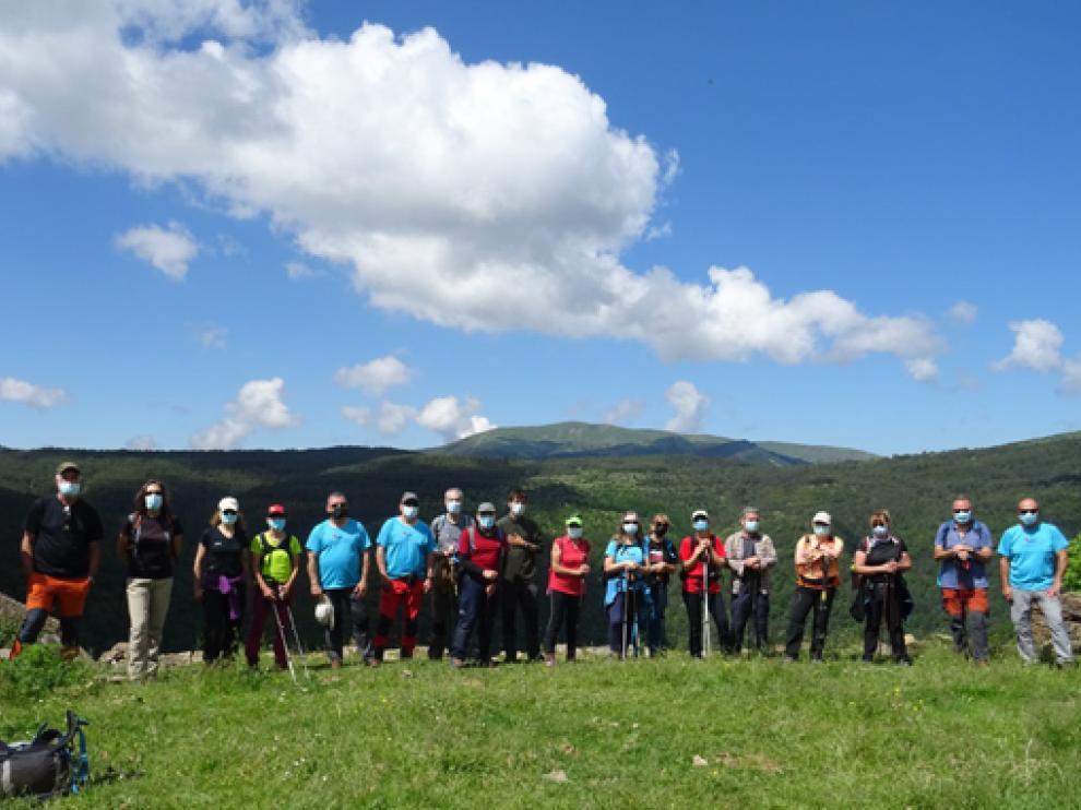 Foto de grupo del CER en la excursión del domingo.