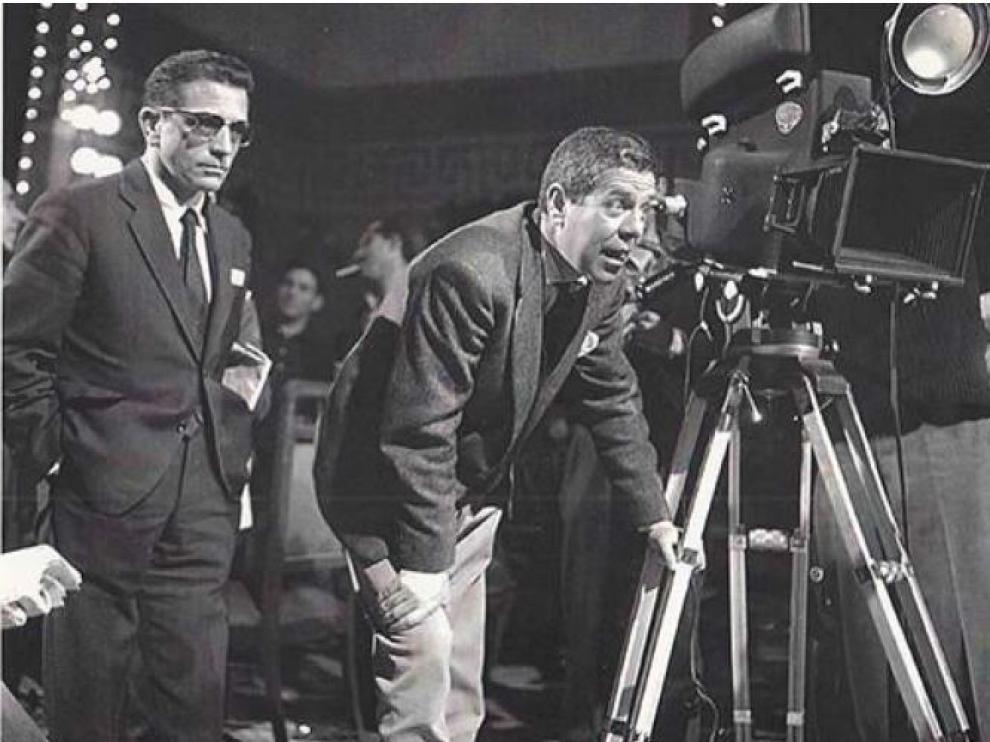 Berlanga, a la derecha, en sus inicios como cineasta.
