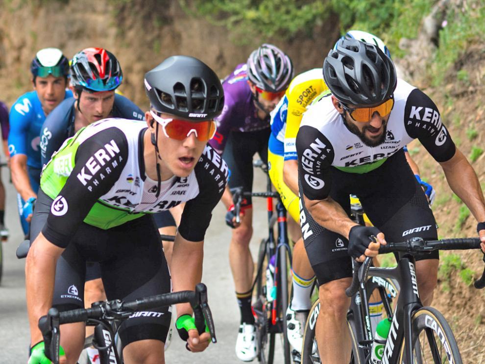 El jaqués Jaime Castrillo, a la izquierda, en el Tour de Eslovenia estos días.