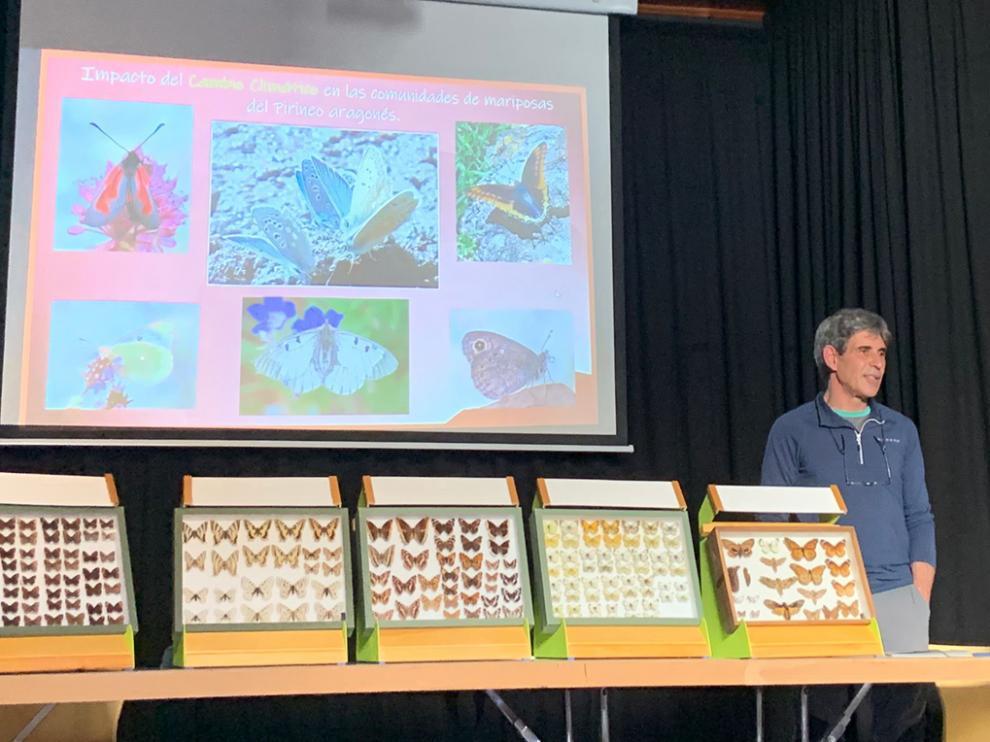Enrique Murria ofreció una charla sobre el impacto del cambio climático en la población de mariposas