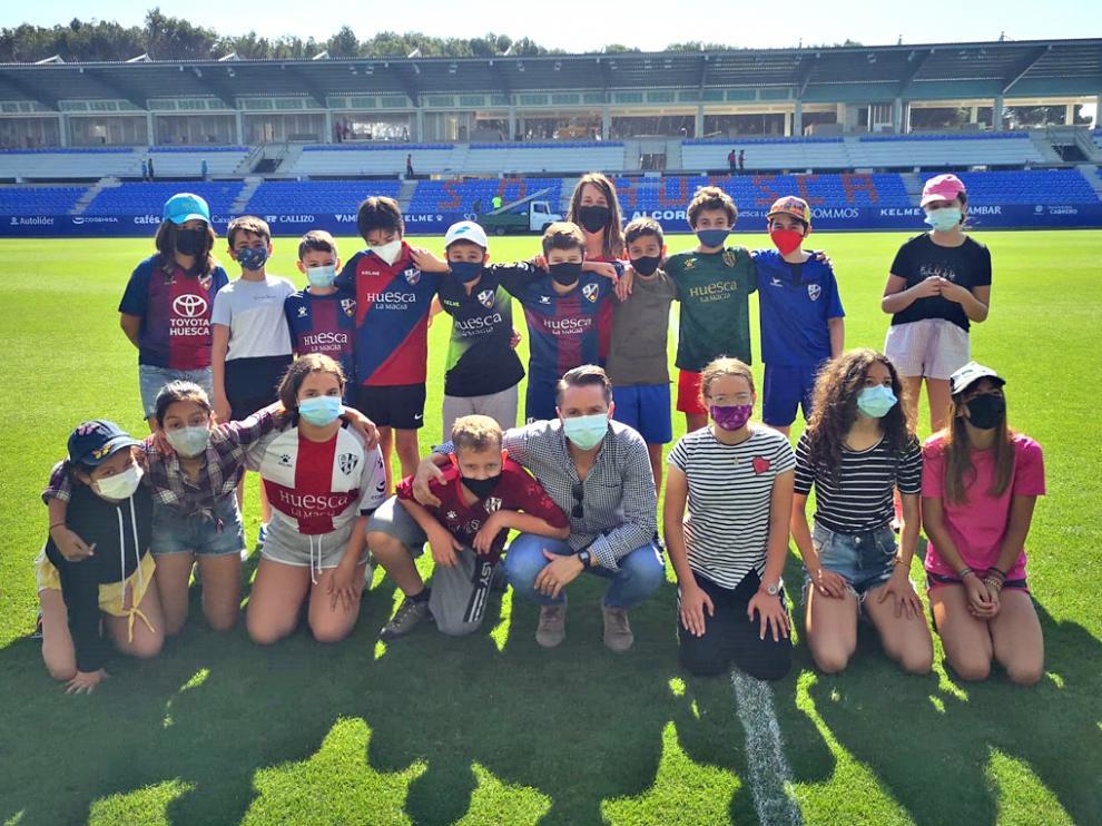 Los estudiantes se sintieron verdaderos futbolistas profesionales