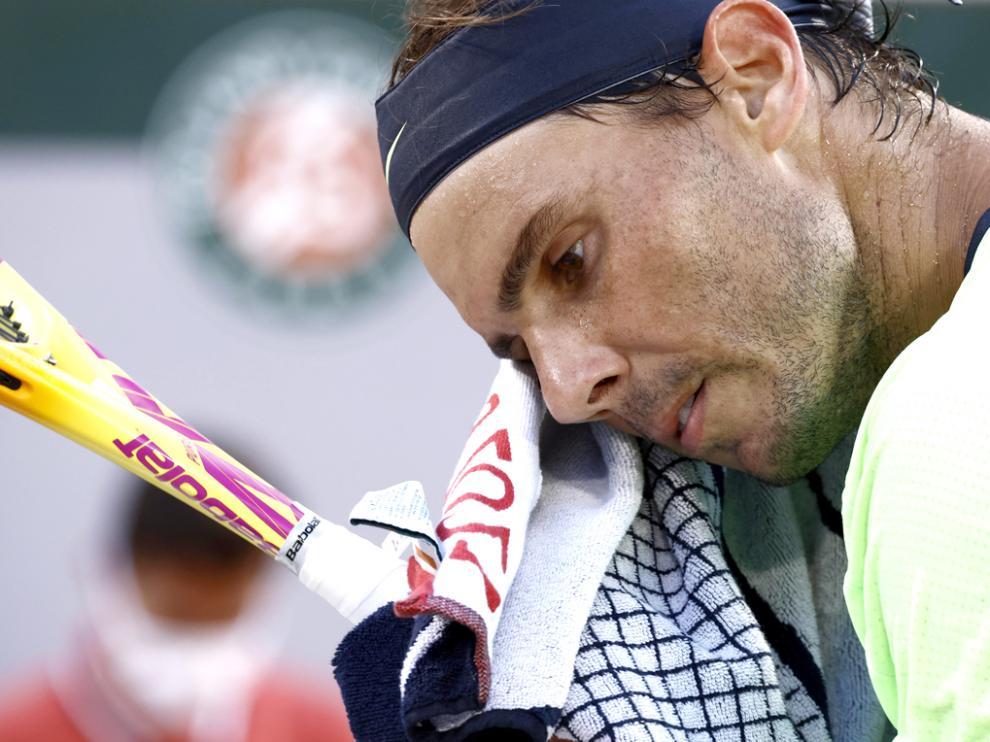 Nadal, en un momento de la semifinal disputada ayer ante Djokovic.