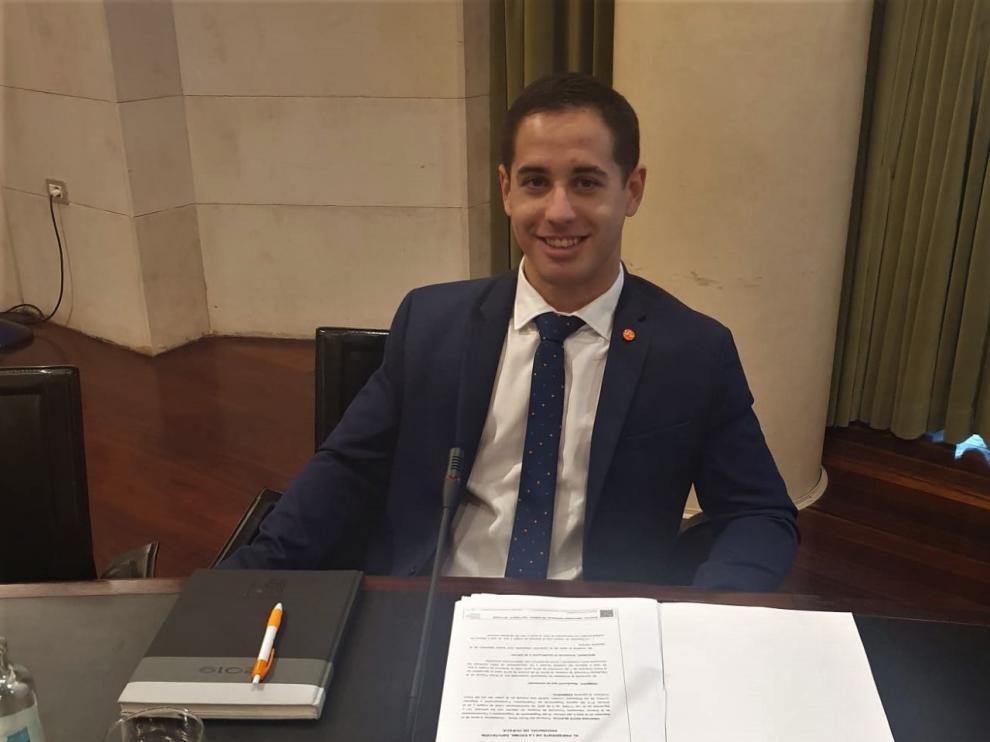 El diputado provincial de Ciudadanos, Cristian Royo.