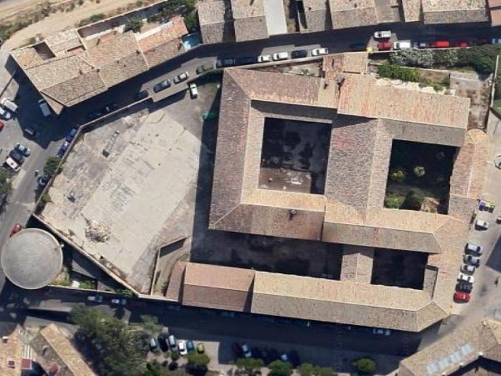 Vista aérea recinto antiguo Seminario de Huesca
