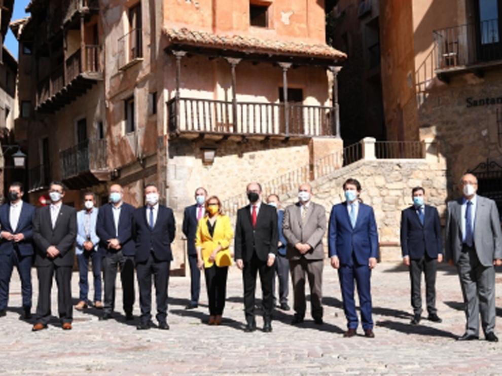 Reunión en Albarracín entre los presidentes de Aragón, Castilla-La Mancha y Castilla y León.