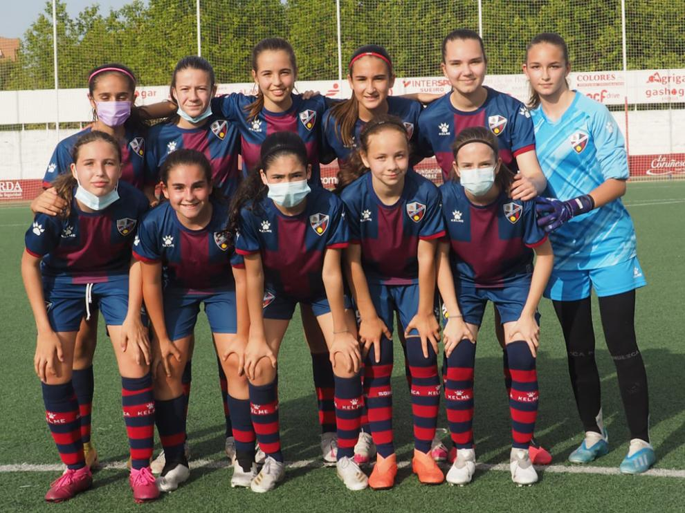 Equipo de la SD Huesca que ganó la Copa Federación en Segunda Territorial
